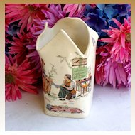 Child's antique French Sarreguemines Cinderella Vase