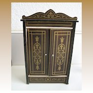 Biedermeier Boule antique doll house large Armoire