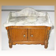 Antique Schneegas doll house marble sideboard washstand