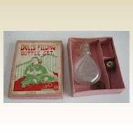 Vintage doll Bottle set in the original box has a rattle