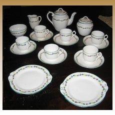 Rare Minton Delicate Flower Band English antique childs toy tea set