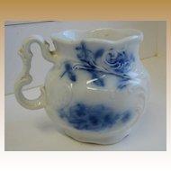 Antique Flow Blue shaving mug J&G Meakin