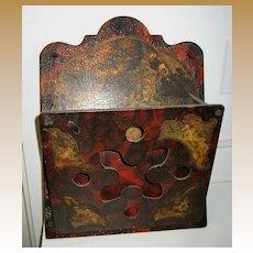 Antique Victorian Cherubs decorative wood letter holder