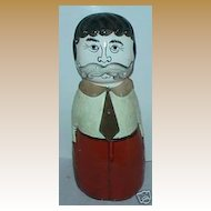 Antique porcelain figural head paper mache man