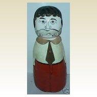 Antique porcelain figural head paper mache man