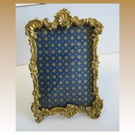 Antique gilt metal glass decorative picture frame