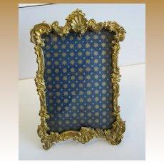 Antique gilt metal glass decorative picture frame