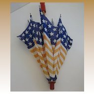 Antique Patriotic doll parasol umbrella Stars & Stripes