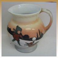 Antique Royal Bayreuth Sledding babies creamer or milk pitcher