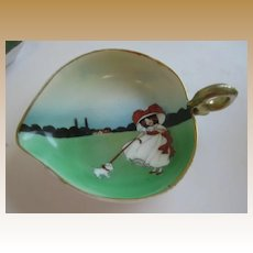Antique Royal Bayreuth Snow Babies or Girl with Dog trinket dish