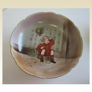 Antique Royal Bayreuth Little Jack Horner nursery rhyme Christmas footed dish