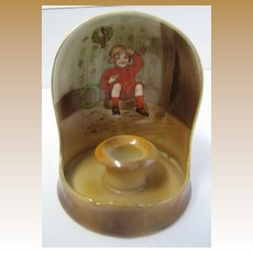 Antique Royal Bayreuth Little Jack Horner Christmas nursery rhyme candleholder