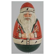 Antique Schoenhut Rolly Dolly's Santa Roly Poly paper mache
