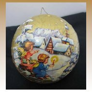 Vintage Christmas candy container ornament paper litho Angels