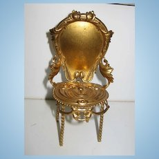 Antique miniature dollhouse furniture German Erhard & Söhne Ormolu chair