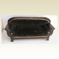 Antique doll house miniature Walterhausen Biedermeier furniture Large scale sofa Mignonette