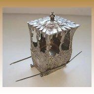 Antique embossed design silver miniature sedan chair