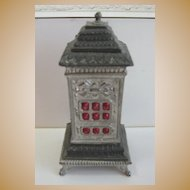 German Antique miniature doll house Pewter heating stove