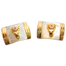 Anson Mother of Pearl Masonic Elk Cuff Links
