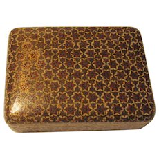 Anglo Indian Micro Mosaic Inlaid Box with Cover