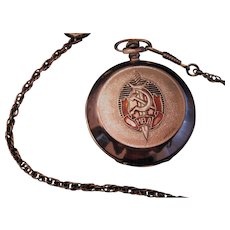 Moinija Russian Pocket Watch Made for Soviet Police