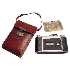 Vintage Pho-Tak Foldex 20 Camera with Leather Case