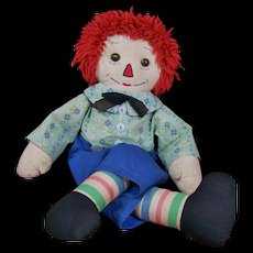 "19"" Vintage Homemade Raggedy Andy"