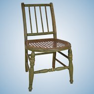 Fabulous Antique Doll's Chair with Original Paint