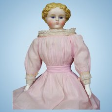 """24"""" Molded Hair Bisque Doll with Glass Eyes"""