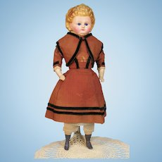 All Original Wax-Over-Composition Doll w/ Fancy Molded Hair