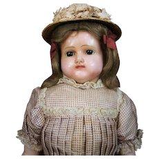 Magnificent German Reinforced Wax Doll w/ Original Costume