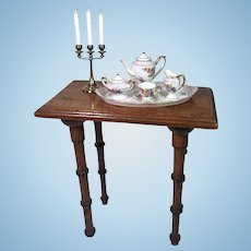 Wonderful French Faux Bamboo Table
