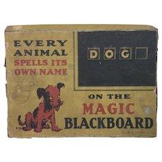 """Antique Spelling Game """"Magic Blackboard"""""""
