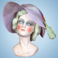 Antique German Boudoir Doll Head