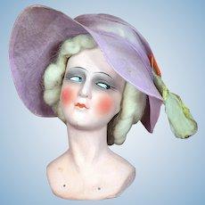 Antique German Boudoir Doll Head