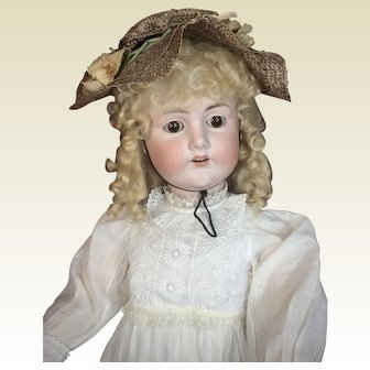 "Huge 33"" German Child Doll - CM Bergmann"