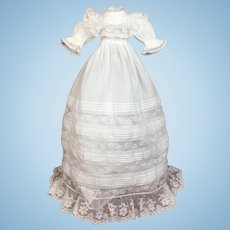Gorgeous Doll's Antique Christening Gown