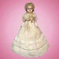 """16"""" All Original German Wax Over Papier Mache Doll"""