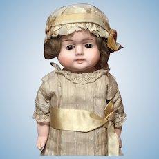 """12"""" German """"Patent Washable"""" Papier Mache Doll"""