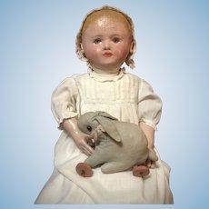 "28"" Martha Chase Stockinette Doll w/ Brown Eyes"