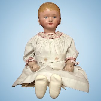 """28"""" Martha Chase Stockinette Doll w/ Great Face"""