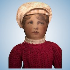 """15"""" Babyland Rag Cloth Doll with Lithographed Face"""