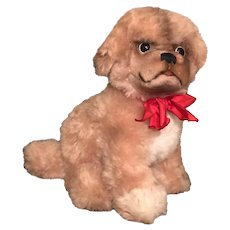Steiff Cosy Peky Pekinese Puppy with Button and Tag