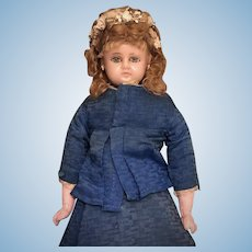 "20"" Reinforced Wax Lady Fashion Doll with Original Costume"