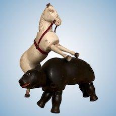 Schoenhut Humpty Dumpty Circus Horse and Bear