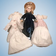 "20"" Belton-Type Sonneberg Doll with Full Wardrobe"