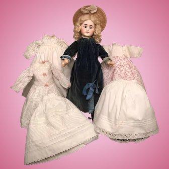 "20"" Belton-Type Sonneberg Doll with Full Wardrobe"