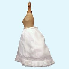 Wonderful Antique French or German Fashion Doll Petticoat