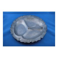 Vintage Solid Pewter Snack Nut Tray