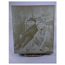 Vintage 1969 Printers Plate Of Katharine Hepburn And Yul Brynner